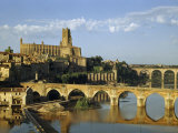 Cathedral and Bridges Reflect in a Tranquil River in Morning Light Photographic Print by Walter Meayers Edwards