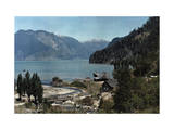 Village of Peulla on the Coast of Lake Todos Los Santos Photographic Print by Jacob Gayer