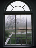 View into a Garden Through a Window on a Foggy Morning Photographic Print by National Geographic Photographer