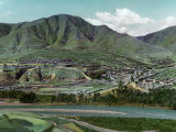 This View Is of the Choni Town from the South Side of the Tao River Photographic Print by Dr. Joseph F. Rock