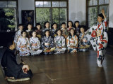 Girl Dances to Samisen Music as Classmates Watch Photographic Print by Joseph Baylor Roberts