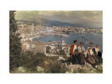 Group of Peasants Sits Atop Mount Marjan Near Split Photographic Print by Hans Hildenbrand