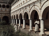 Two Brothers of Mercy Stand on a Patio in El Tejar Photographic Print by Jacob Gayer