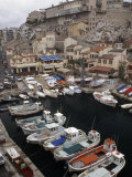 Boats in a Small Harbor on the Edge of Marseilles, France Photographic Print by Jim Sugar