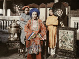 Princess of Hue Is Fanned by Her Maids Photographic Print by W. Robert Moore
