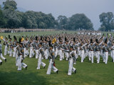 Cadets March in Formation on a Parade Ground, Spectators Watch Photographic Print by Howell Walker