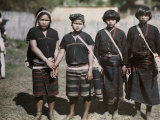Girls' Costumes Indicate They are from Different Tribes Photographic Print by W. Robert Moore