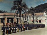 Ecuadorian Military Students on a Dress Parade Photographic Print by Jacob Gayer