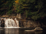 Linville Falls Cascading into a Pool Photographic Print by Raymond Gehman