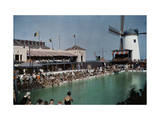 Crowds Form at a Miami Beach Pool for a Swim Competition Photographic Print by Clifton R. Adams