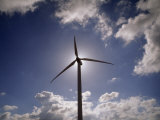 Wind Turbine Silhouetted Against the Sun Photographic Print by  xPacifica