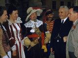 Group Portrait of Historical Reenactors in Period Costumes Photographic Print by Volkmar K. Wentzel