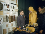 General Curtis Lemay Inspects New Types of Survival Gear Photographic Print by Volkmar K. Wentzel