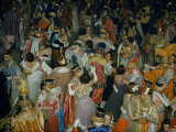 Members of Mystick Krewe of Comus Dance at Ball Ending Mardi Gras Lámina fotográfica por Justin Locke