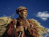 Portrait of a Worker Monk, Who Farms, Begs Alms, and Collects Rents Photographic Print by Volkmar K. Wentzel