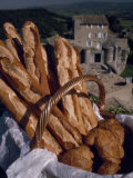 Fresh French Bread and Rolls in Provence, in the South of France Photographic Print by James A. Sugar
