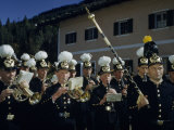 Miners Guild Marching Band Stands in Formation to Play Photographic Print by Volkmar K. Wentzel