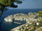 Scenic View of Dubrovnik Harbor and the Adriatic Sea Photographic Print by Volkmar K. Wentzel