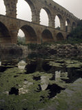 Pont Du Gard Is an Aqueduct Constructed by the Roman Empire Photographic Print by James A. Sugar
