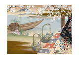 Chinese Japanese Boat Premium Giclee Print