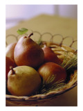 Basket with Pears Posters