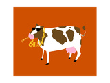 Funny Cow Chillin Posters