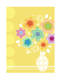 Abstract Flowers in Vase Prints