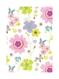 Pretty Flower Pattern Posters