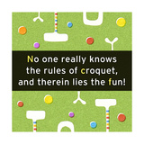 Croquet Rules Print