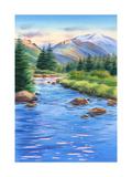 Mountains and River Landscape Prints