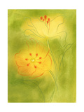 Stylized Yellow Flowers Posters