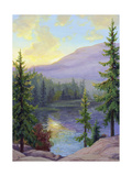 Mountain Lake at Sunrise Prints
