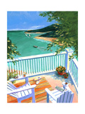 Lake View from the Terrace Premium Giclee Print