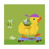 Duck on Skateboard Prints