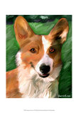 Corgie on the Lawn Posters by Robert Mcclintock