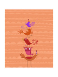 Colorful and Playful Birds Posters
