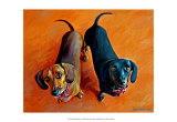 Double Dachsies Art by Robert Mcclintock