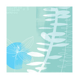 Abstract Flower and Fern Art