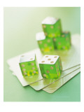 Green Dice and Cards Photo