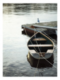Rowboat Tied to Dock Posters