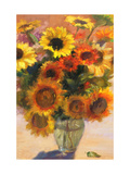 Bouquet of Sunflowers Premium Giclee Print