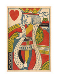 King of Hearts Card Premium Giclee Print