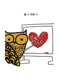 Love Owl Kunstdrucke