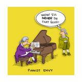 Pianist in Wig Premium Giclee Print