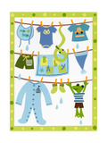 Baby Boy Clothesline Posters
