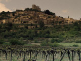 La Coste, a Hillside Village, Overlooks Vineyards in a Valley Below Photographic Print by Jim Sugar