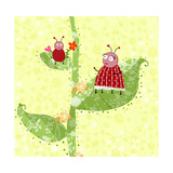 Two Ladybugs Perched on a Plant Posters