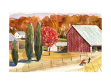 Farm with Red Barn Art