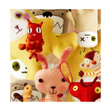 Collage of Stuffed Toys Art