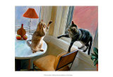 Cats Fighting Prints by Robert Mcclintock